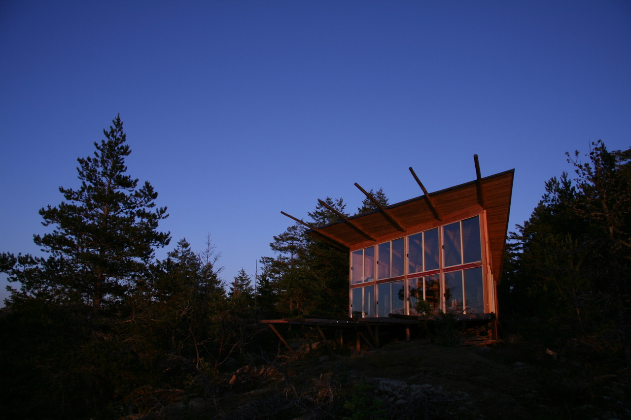 cabinporn:  Cabin on Lasqueti Island, British Columbia, Canada. Built off the grid from on-site timber. Submitted by David Bouck.  I'm buying a cabin.