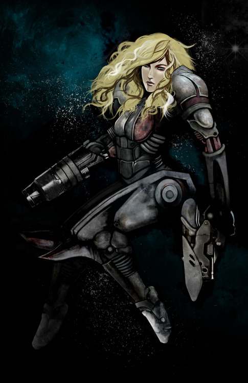 Samus Created by Rachel Bowland Ulstad Prints are now available for $25 USD at Yetee Gallery.
