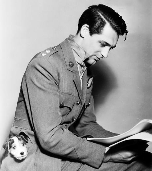 Cary Grant and a puppy. Who needs context? (Thanks @katherinebook and @literaticat for enhancing my twitter stream w/ this pic this morning.)