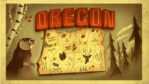 The fictional version of Oregon from Gravity Falls