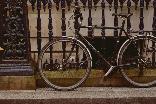 A bike in Glasgow City Centre