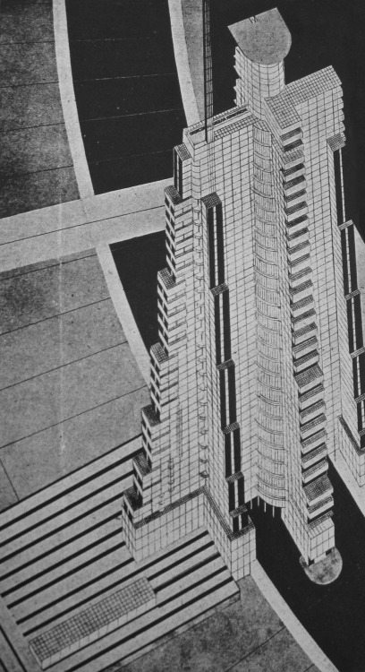 Nikolai Krasil'nikov, Planar Urbanism, 1928 (via archofdoom) 'The mathematicization of architectural projects (in which this work does not pretend to any degree of finality) must be based on a mass of scientific research into such factors as the psycho-physical effect on the human organism of light, heat-energy, the quality of air, of color, space and form, amongst many other factors.The successes of the last decade in mathematical statistics and analysis must herald their even further development in the future, and all such progress will greatly assist the solution to our architectural tasks.'