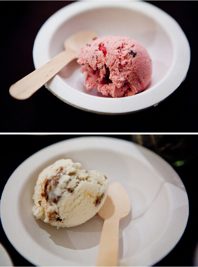 Here's a scoop of Cranberry Chocolate Chip. And there's a scoop of Two Snaps and a Hay.Check out these great shots of our scoops from NYCWFF, Food Network's Food & Wine Festival. Taken by our pal Tina Wong of The Wandering Eater. Also check out her blog (thewanderingeater.com) for some incredible food photography.