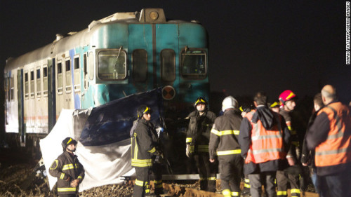 Train vs. Fiat - Rossano, Italy - 11/24/2012 - 6 fatalities (all occupants of the car.)