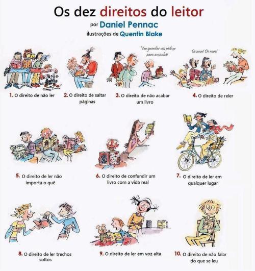 Os 10 direitos do leitor! :)
