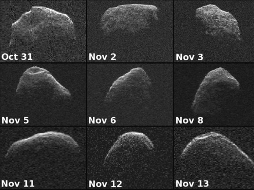 On Nov. 5, a mile-wide space rock tumbled past Earth. NASA was there to bounce some radio waves off its surface…