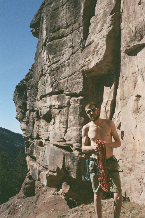rock climbing beau, telluride, co.