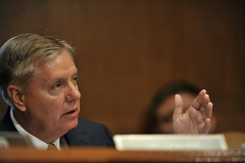Sen. Lindsey Graham's criticism of Susan Rice now 100% nonsense.  [image source]