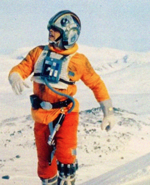 Mark Hamill on the set of Star Wars: Episode V - The Empire Strikes Back (1980)