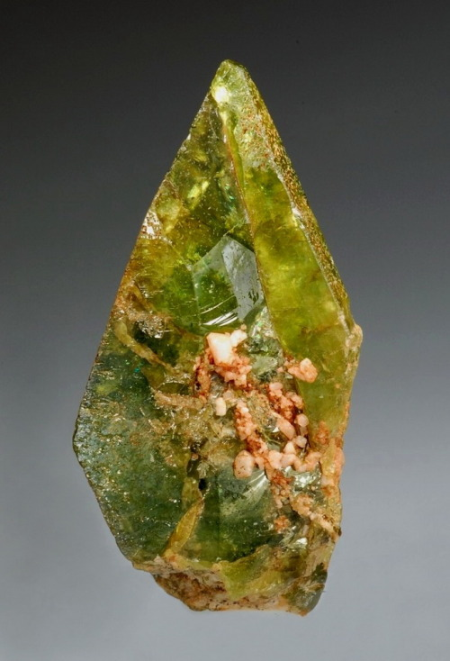 crystal-porn:  Titanite with Feldspare crystals  Fuel my soul