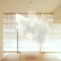 Nebula12, Micasa LAB This weather-forecasting lamp creates an indoor cloud to warn of grey skies outside. The Nebula 12 by Swiss design studio Micasa LAB combines liquid nitrogen and hot water to create a billowing cloud of steam, which is kept in circulation around the lamp by vacuum suction. The form the cloud takes and the colour of the lamp depend on the weather forecast for the next 48 hours. A grey cloud appears on an overcast day, while a patch of low pressure is signalled by a red light seeping through the cloud. On sunny days the cloud disappears, leaving a warm yellow light, and at sunset the light turns warm orange. by dezeen.com