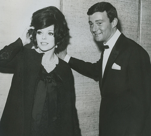 Joan Collins and Vidal Sassoon.