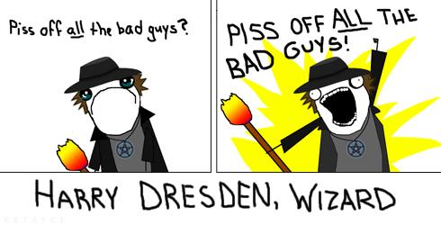Harry Dresden, X all the Y meme