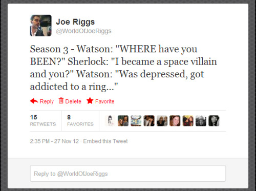 Sherlock season three summary in one tweet…