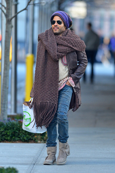 Lenny Kravitz out + about in NYC Monday…