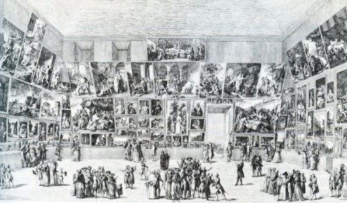 Pietro Antonio Martini, The Salon of 1785, engraving In a new series on SFMOMA's Open Space blog, grupa o.k. have asked artists, writers, thinkers to imagine proposals for a museum in San Francisco. First up is Oakland-based artist Zarouhie Abdalian. To read Abdalian's proposal, click here.