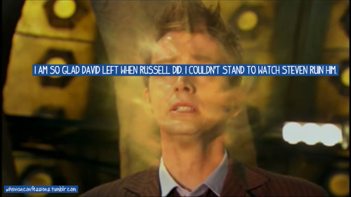 I am so glad David left when Russell did. I couldn't stand to watch Steven ruin him.