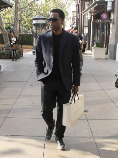 Chris Rock shopping at 'The Grove' in L.A. Monday…