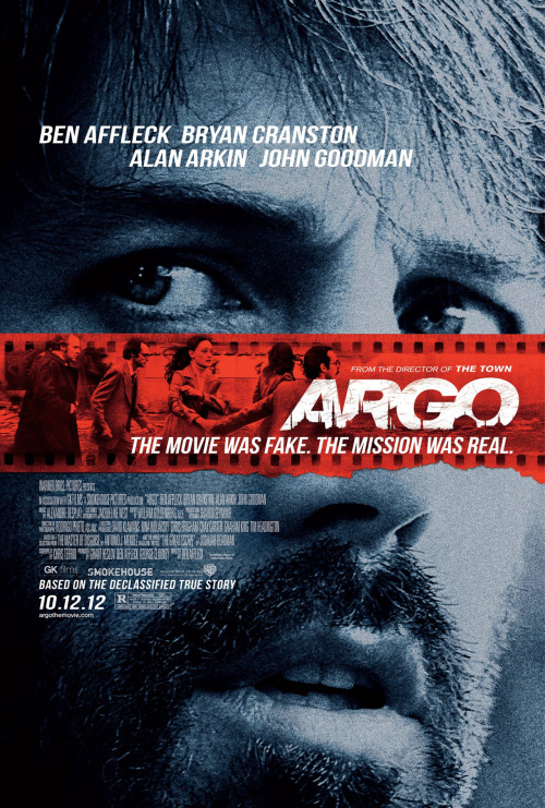 "#127 Argo (2012) Dir. Ben Affleck It's crazy to think this story is actually true. Affleck's third film as director is yet another confident and impressive effort and lets him show off his suspense skills on a bigger canvas. The cast is so fucking good. Scoot McNairy is fast becoming one of my favourite character actors working today and Bryan Cranston is, well…Bryan Cranston being great as usual. Plus any movie that pairs John Goodman and Alan Arkin together as a comic-relief double act must be doing something right. A lot of people really love this movie and it seems to be the closest thing we've got so far to a universal favourite of 2012. While I loved the suspense and the zany story it didn't quite knock me on my ass as I was expecting. White knuckle entertainment of the highest order but no huge cinematic revelation. Pretty sure this will get closer to my heart with repeat viewings like The Town but sorry Ben, Gone Baby Gone is still my favourite. They should totally do T-shirts that say ""Argo fuck yourself"" though."