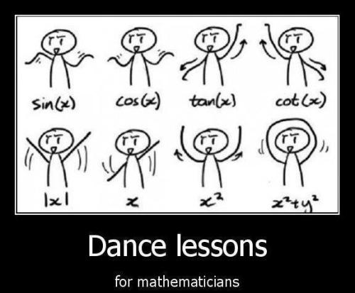 Math lessons for dancers :-)