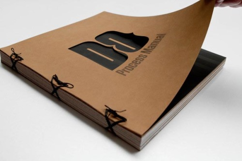 "Creative Book Design ""Process Manual Volume 1.0"" is a book created by print and motion designer Dan Ogren from Portland, OR, USA. More images of the book design on WE AND THE COLORFacebook // Twitter // Google+ // Pinterest"