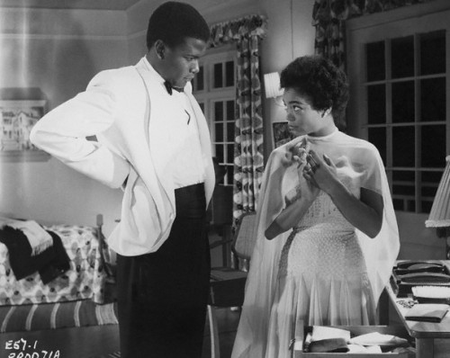 "Sidney Poitier and Eartha Kitt in the 1957 film ""The Mark of the Hawk."" Mr. Poitier portrays a London-born African who returns home for a political position. His character's name? Wait for it… Obam. Ms. Kitt plays his stylish wife Renee. Photo: John Springer Collection/Corbis."