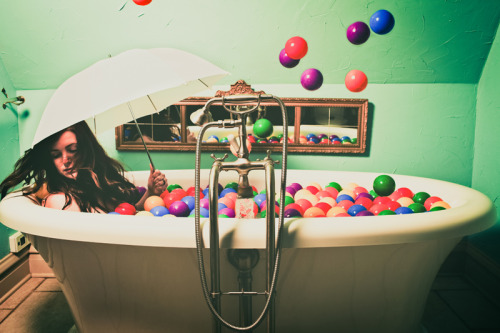 steven-kowalski:  Another concept piece using ball pit balls.  Taken at the Brooke Shaden workshop earlier this year.