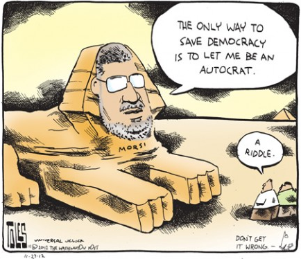 Cartoon of the day: Solving Egypt's future TOM TOLES © 2012 Universal Press Syndicate More cartoons