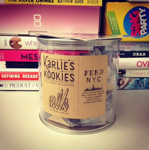 The new flavor of Karlie Kloss for Momofuku Milk Bar cookies is delicious! Proceeds help New Yorkers affected by Sandy Photographed by Sierra Tishgart