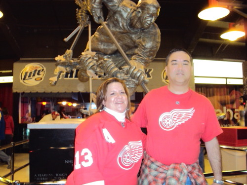 Me & Steve at a Red Wings game