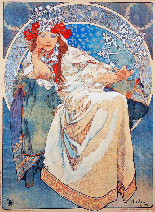 vintagegal:  Princess Hyacinth by Alphonse Mucha, 1911
