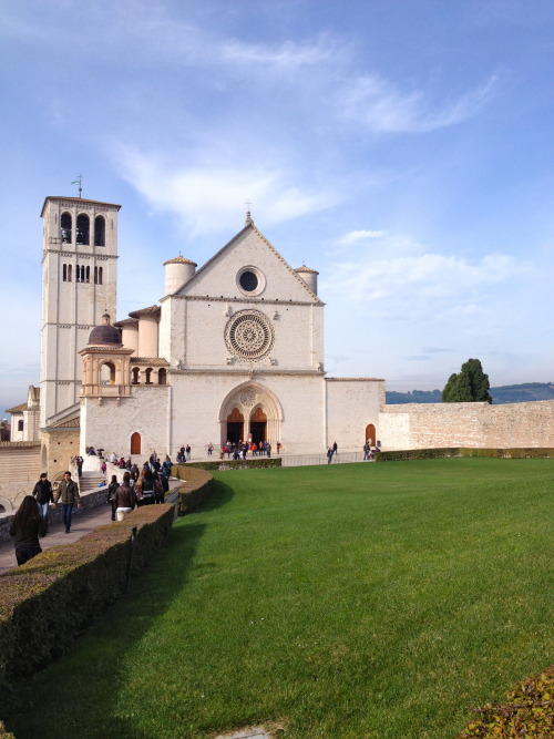hallejarvi:  Basilica di Santo Fransisco di Assisi   I've been to Assisi, the home of Saint Francis. Truly beautiful place. If you haven't been, I highly recommend it as a wonderful place to visit as a Catholic. The view from atop the hill is lovely. You can see the many relics, churches, and historical places of the saints.
