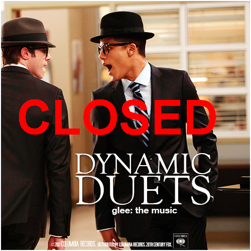 This week's 'Glee: The Music, Dynamic Duets Alternative Covers Album' Competition is now closed.  The winners will be announced soon.