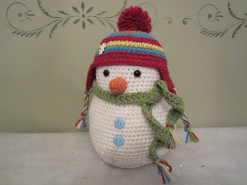 Crochet Snowman Cutie, Centerpiece, Table top Decoration by CROriginals