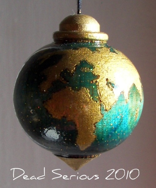 Peace On Earth Hardwood Ornament Wood