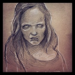 pmpinto:  #Sofia #sketch #walkingdead #season2 #zombie #girl #graphite #grapesodastudio #original #orlando #florida #amc @walkingdead_amc @bigbaldhead @steveyeun