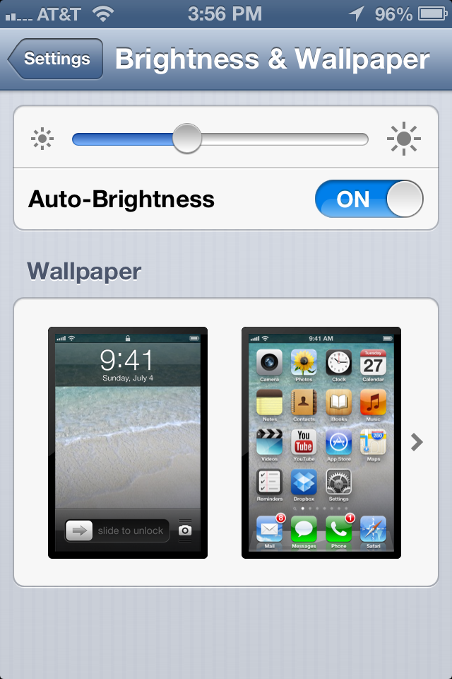 littlebigdetails:  iOS 6 - When selecting new wallpaper, preview screenshots show a realtime view of your current home & lock screens /via Rich Cornish  Something so simple can go unnoticed to the mind that isn't aware.