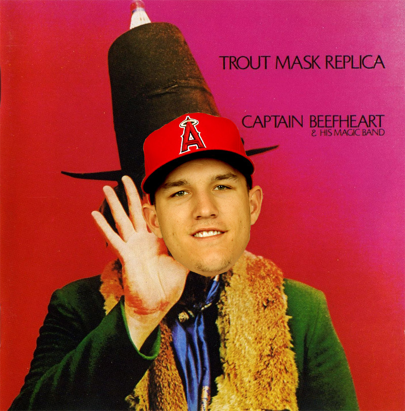 Mike Trout Mask Replica.  I felt sure someone would've done this before, but I searched Google, Google Images, Tumblr, and Twitter and found nowt, so…