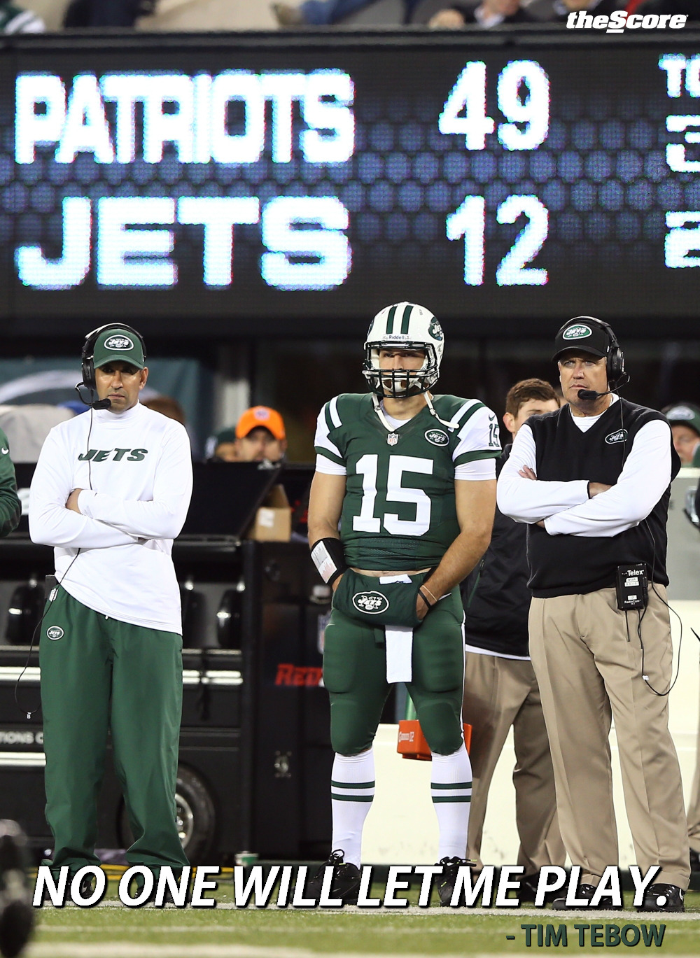 Photo: Tim Tebow Hates The New York Jets.