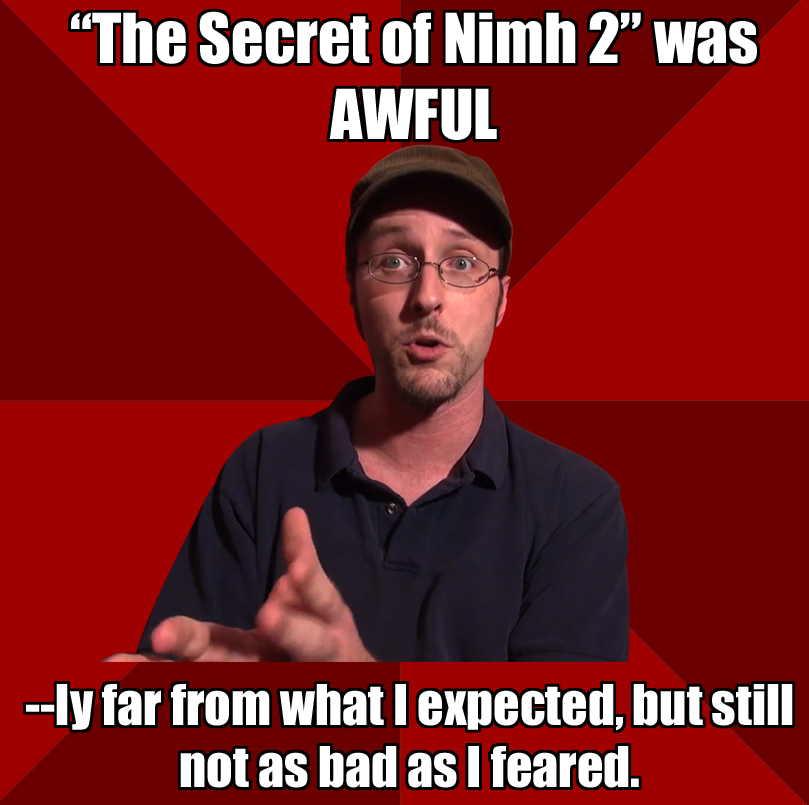 (reference to the commentary for The Secret of Nimh 2 review)  (Submitted by http://karaistletoe.tumblr.com/)