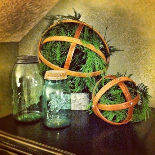More of my #Christmas decor #westelm #ball #masonjars