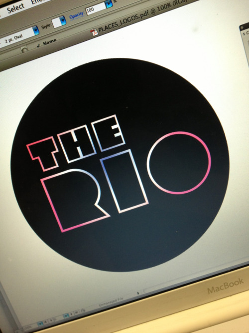 Her name is Rio an she dances on the sand….  Another bit of typography for a client :)