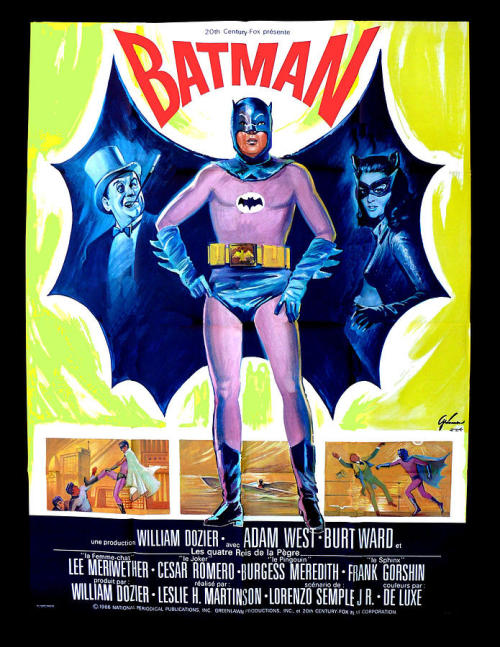 phasesphrasesphotos:  French Batman Poster 1966  French Batman poster