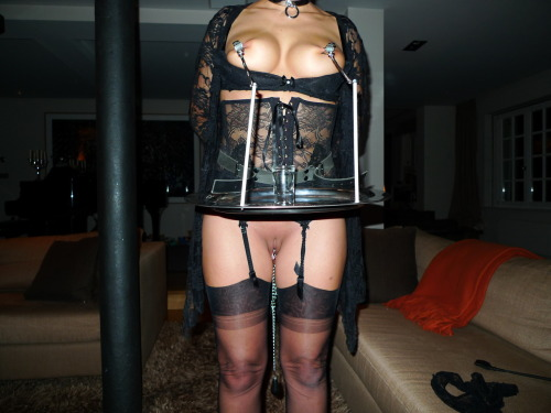 justnippleclamps:   Serving   Amateur Bondage Nipple Clamps and Tit Torture: Amateur-BDSM.org Just Nipple Clamps Pictures and Movies of Subs with Nipple Clamp