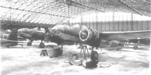 WWII Wednesday Picture #3…some Yokosuka P1Y Gingas in partial assembly
