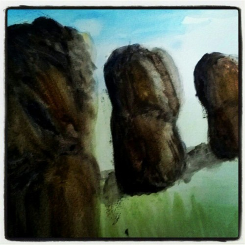26/11/2012  #art #watercolor #landscape #rocks