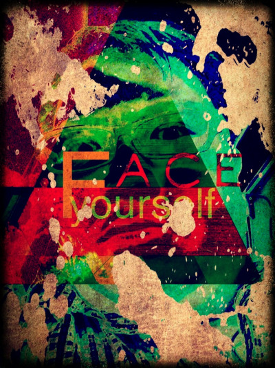 """Face Yourself"" —- Face it, you are who you are. You can be who they think you are not. But you know who you are. Be yourself. Face yourself. —- A conceptual semi-abstract art, shot and edited on iPhone5 with apps: Camera, Blender, PicGrunger, Decim8, easyTITLER, Pixlromatic."
