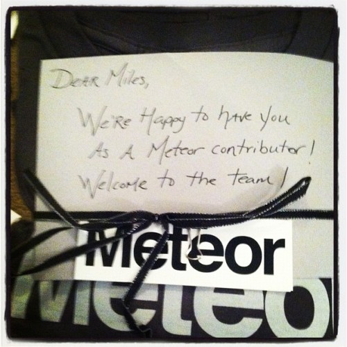 I love contributing to the open source community. Thanks for the gifts @meteorjs!
