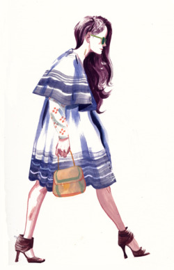 A sketch from the Sartorialist.