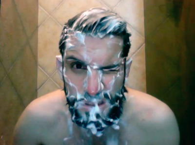 my followers are leaving me and I just noticed. Washing the beard is the best part.